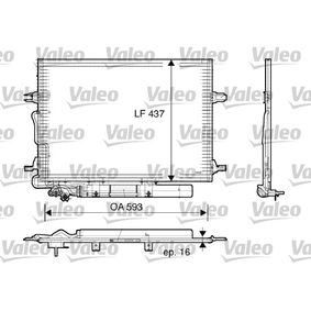 Kondensator, Klimaanlage Kältemittel: R 134a mit OEM-Nummer 2205000054