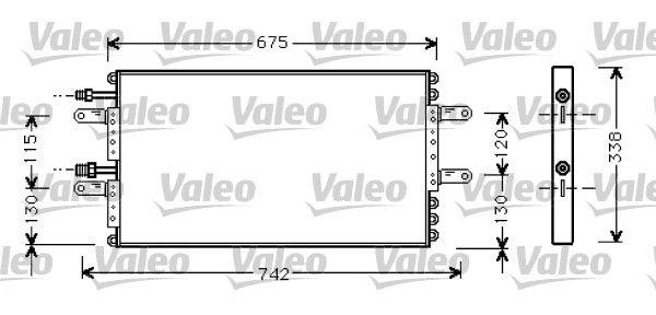 VALEO  818030 Kondensator, Klimaanlage Kältemittel: R 134a