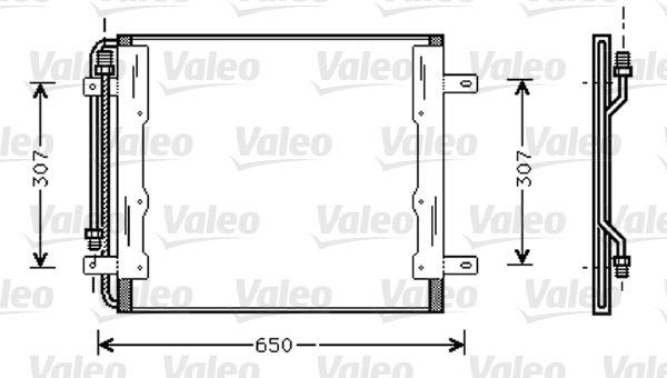 VALEO  818035 Kondensator, Klimaanlage Kältemittel: R 134a