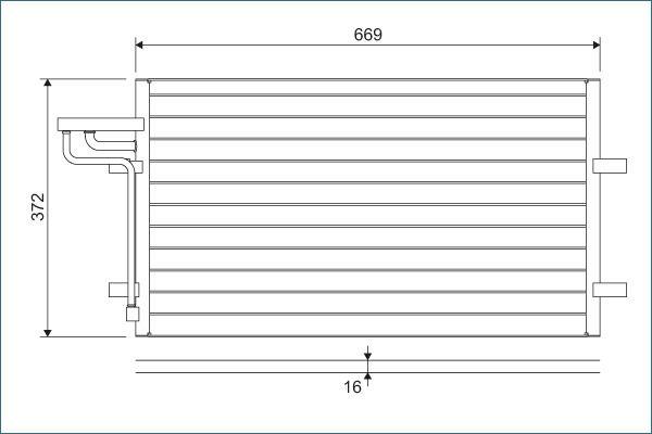 VALEO  818046 Kondensator, Klimaanlage Kältemittel: R 134a