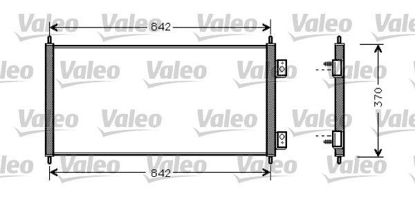 VALEO  818050 Kondensator, Klimaanlage Kältemittel: R 134a