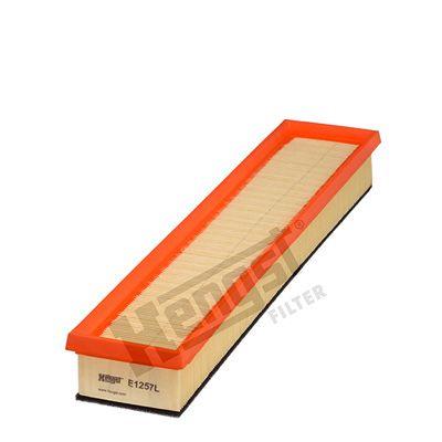 HENGST FILTER  E1257L Luftfilter Länge: 452mm, Breite: 89mm, Höhe: 53mm, Länge: 452mm