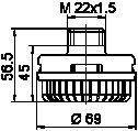 Geräuschdämpfer, Druckluftanlage WABCO 432 407 060 0 Bewertung