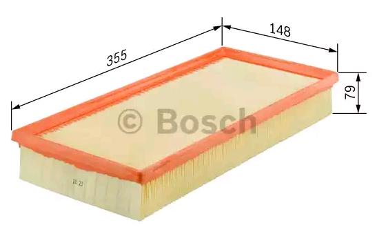 Luftfilter F 026 400 409 BOSCH S0409 in Original Qualität