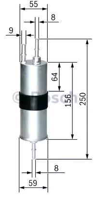 Inline fuel filter BOSCH F3754 4047025151665
