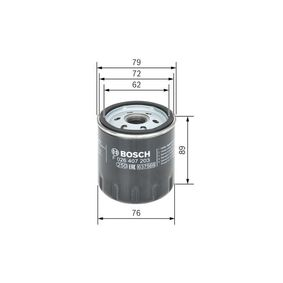 Oil Filter Ø: 76mm, Height: 89mm with OEM Number 1 250 507