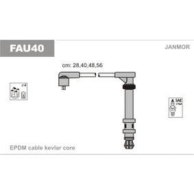 JANMOR  FAU40 Ignition Cable Kit EPDM (ethylene propylene diene Monomer (M-class) rubber), Length: 280mm, Length: 400mm, Length 3: 480mm, Length 4: 560mm