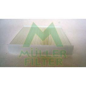 Filter, Innenraumluft Länge: 222mm, Breite: 225mm, Höhe: 35mm mit OEM-Nummer 6447KR