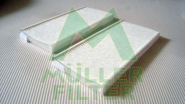 MULLER FILTER  FC297x2 Filter, Innenraumluft Länge: 240mm, Breite: 108mm, Höhe: 20mm