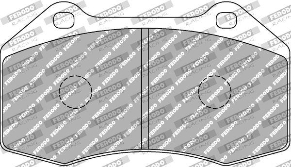 FERODO RACING  FCP1667H Juego de pastillas de freno Ancho 1: 70,7mm, Espesor 1: 15,5mm