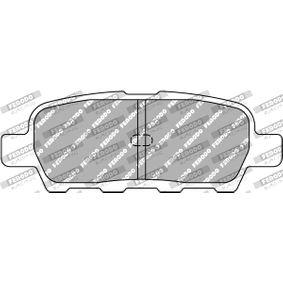 Brake Pad Set, disc brake FCP1693H JUKE (F15) 1.5 MY 2014