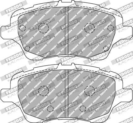 FERODO RACING  FCP4612H Juego de pastillas de freno Ancho 1: 60,5mm, Espesor 1: 17,5mm