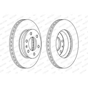 Bremsscheibe Bremsscheibendicke: 28mm, Lochanzahl: 6, Ø: 300mm mit OEM-Nummer 2E0 615 301