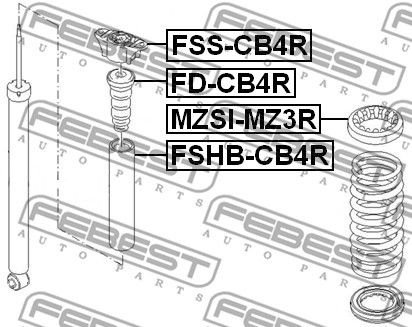 Bump Rubber FEBEST FD-CB4R rating