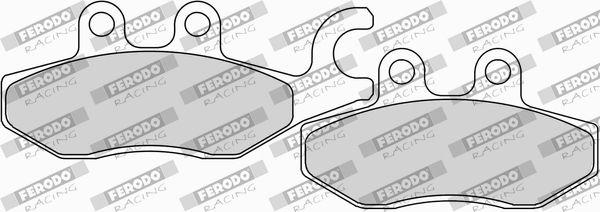 FERODO RACING  FDB2186EF Juego de pastillas de freno Ancho: 41,2mm, Espesor: 9,0mm
