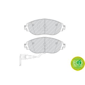 Brake Pad Set, disc brake Height 1: 69mm, Thickness: 19,8mm with OEM Number 3C0-698-151-G