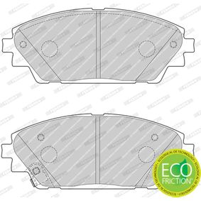 Brake Pad Set, disc brake Height 1: 55mm, Thickness: 16mm with OEM Number BHY13328ZA9C