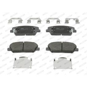 Bremsbelagsatz, Scheibenbremse Höhe 1: 60,1mm, Dicke/Stärke: 18,2mm mit OEM-Nummer 581012MA00