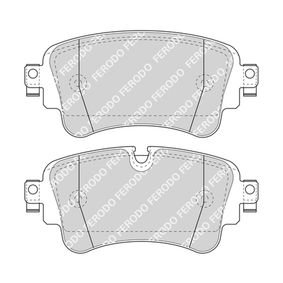 Brake Pad Set, disc brake Height 1: 65mm, Thickness: 16,1mm with OEM Number 8W0698451N