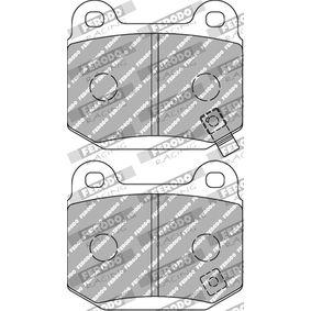 Bremsbelagsatz, Scheibenbremse FDS1562 IMPREZA Schrägheck (GR, GH, G3) 2.5 WRX STI AWD (GRF) Bj 2013