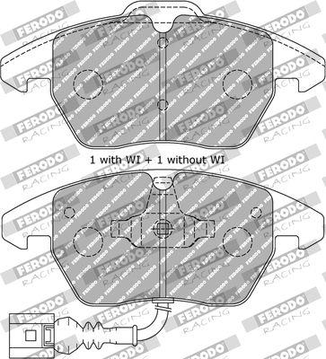 FERODO RACING  FDS1641 Juego de pastillas de freno Ancho 1: 71,4mm, Ancho 2: 66,0mm, Espesor 1: 19,4mm