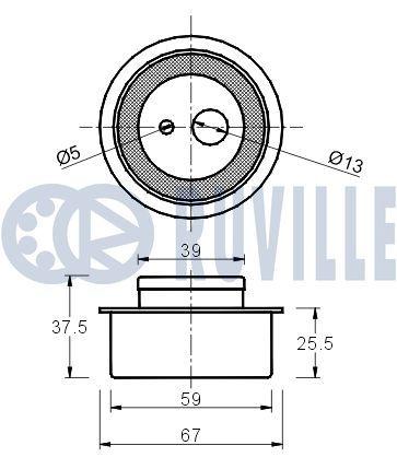 RUVILLE  55426 Spannrolle, Zahnriemen Ø: 67,00mm
