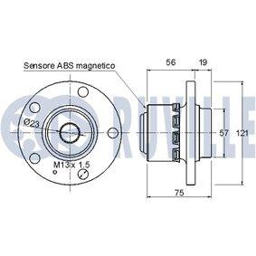 Rolo tensor, correia dentada Ø: 67,50mm com códigos OEM 038 109 243 N