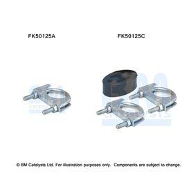 Mounting Kit, exhaust pipe FK50125 PANDA (169) 1.2 MY 2010