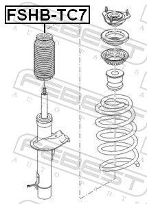 Caperuza protectora / fuelle, amortiguador FEBEST FSHB-TC7 evaluación