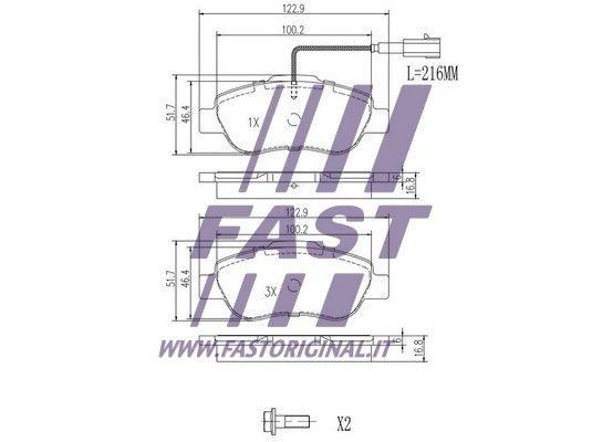 Kit Pastiglie Freno FAST FT29123 valutazione