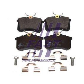 Bremsbelagsatz, Scheibenbremse Höhe: 53mm, Dicke/Stärke: 17mm mit OEM-Nummer 1J0.698.451E
