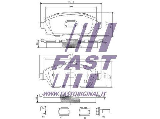 Bremsbelagsatz FAST FT29525 Bewertung