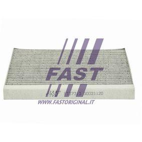 Filter, Innenraumluft Länge: 265mm, Breite: 215mm, Höhe: 21mm mit OEM-Nummer 55702468