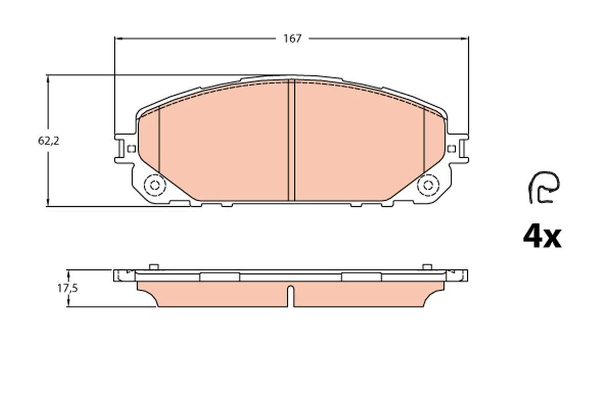Bremsbelagsatz TRW GDB2094 Bewertung