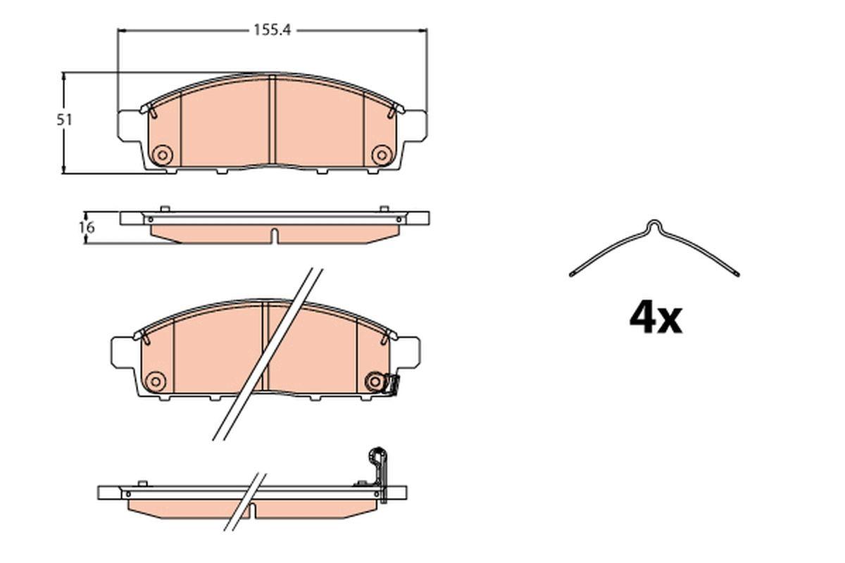 Disk brake pads TRW GDB2124 rating