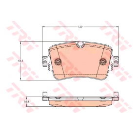 Brake Pad Set, disc brake Height: 65,5mm, Thickness: 16,8mm with OEM Number 4M0 698 451N
