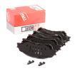 OEM Комплект спирачно феродо, дискови спирачки TRW GDB3633