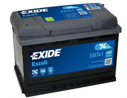 Autobatterie EB741 EXIDE 57219 in Original Qualität