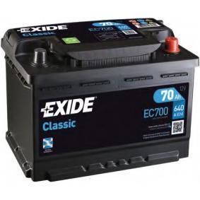 EXIDE Starterbatterie 70 Ah , 12 V , L3 , 640 A , Bleiakkumulator