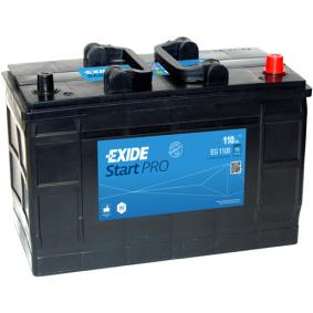 EXIDE Nutzfahrzeugbatterien B0 , 110 Ah , 12 V , 750 A , Bleiakkumulator