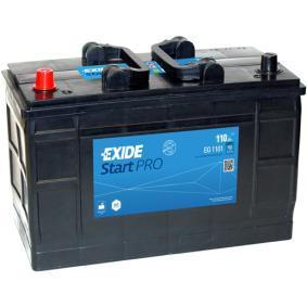 EXIDE Nutzfahrzeugbatterien B0, B00 , 110 Ah , 12 V , 750 A , Bleiakkumulator