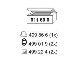 ERNST  011600 Montagesatz, Schalldämpfer