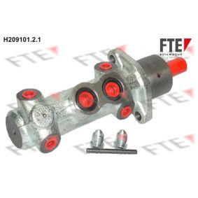 Brake Master Cylinder H209101.2.1 PUNTO (188) 1.2 16V 80 MY 2006