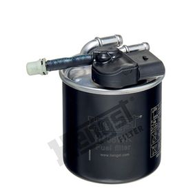 Fuel filter Height: 125mm with OEM Number 651 090 16 52
