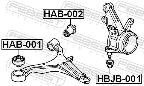 Suspension Bushes FEBEST HAB-001 rating