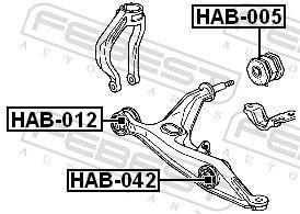 Suspension Bushes FEBEST HAB-042 rating