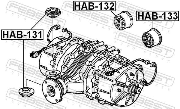 Lagerung, Differential FEBEST HAB-131 Bewertung