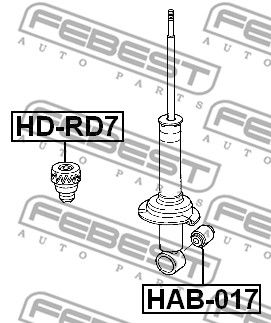 Bump Rubber FEBEST HD-RD7 rating