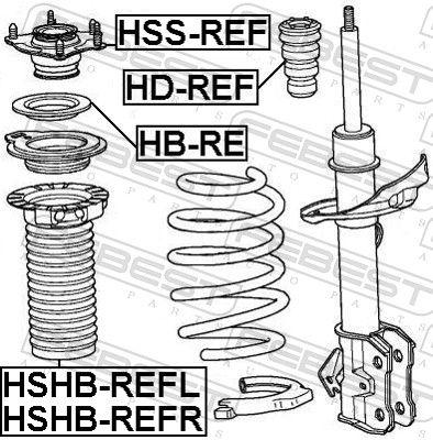 Almohadilla de tope, suspensión FEBEST HD-REF evaluación