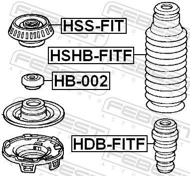 Bump Rubber FEBEST HDB-FITF rating